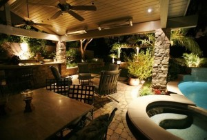 lit patio outdoor living