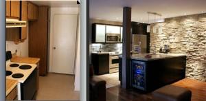 b4 n after hgtv kitchen