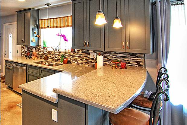 the gray glazed cabinets are gorgeous update to this kitchen remodel which was part of a whole house remodel the phoenix scottsdale area kitchen - Kitchen Remodel Scottsdale
