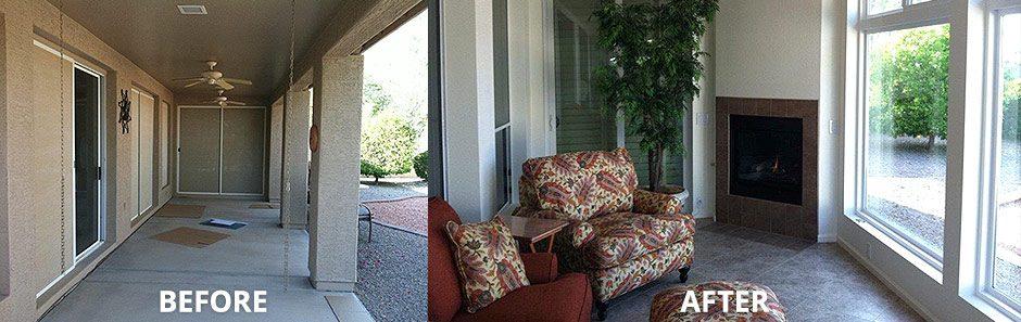 Porch Remodel Enclosure