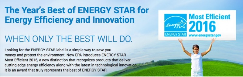 Energy Star Most Efficient 2016