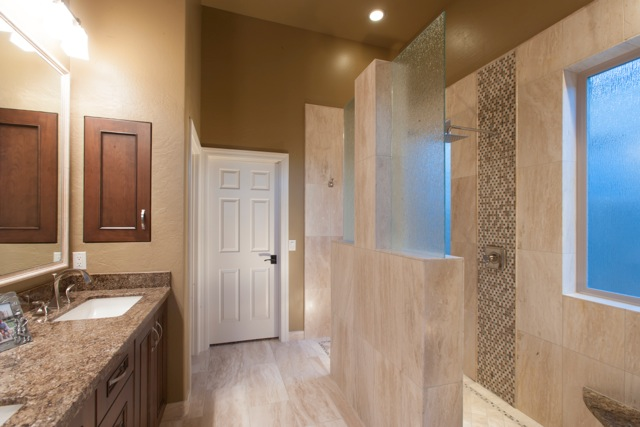 Contemporary bathroom remodeling phoenix for Walk through shower to tub