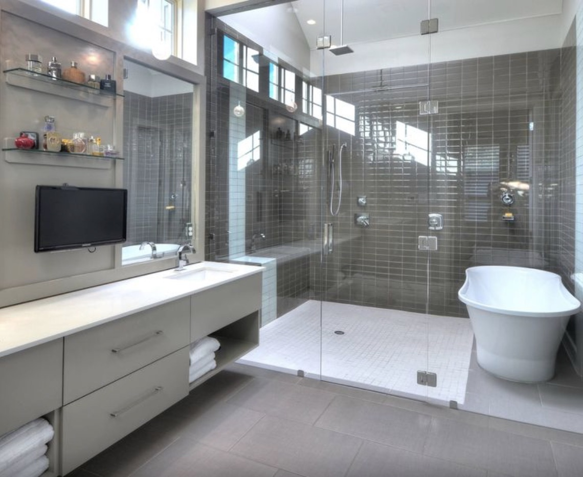 Bathroom remodeling trends for 2017 cook remodeling for Toilet and bath design small space
