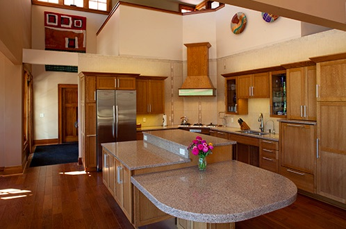 Photo is the kitchen from the Universal Design Living Laboratory home